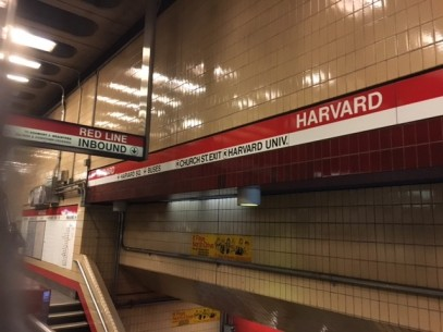 The T stop at Harvard